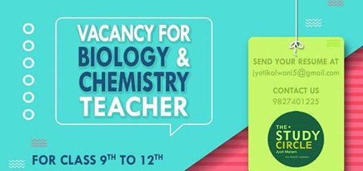 Vacancy for Biology & Chemistry Teacher